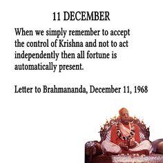 11 December For full quote go to… Krishna Art, Radhe Krishna, February Month, December Quotes, Full Quote, Srila Prabhupada, Divine Grace, Amazing Quotes, Daily Quotes