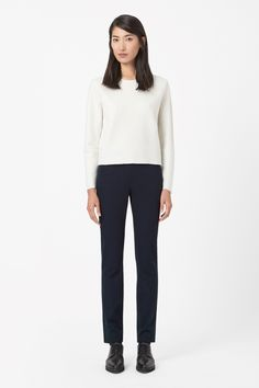 Slim side-zip trousers