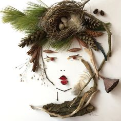 """""""Lady Nature"""" Flower Face Print"""