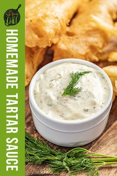 Homemade tartar sauce is bright, tangy, and so easy to make! If you're craving fish and chips, you can't forget the homemade tartar sauce on the side! Easy Holiday Recipes, Best Dinner Recipes, Vegan Recipes Easy, Tuna Recipes, Recipies, Homemade Tartar Sauce, Sweet Pickles, Beef Casserole