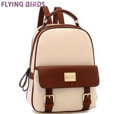 2016 de las mujeres mochilas de cuero mochila casual mochila escolar mochila  mujeres de las señoras bolsos de viaje bolsas de hombro LS8852fb de handbag  ... f8c963b29ea66