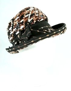 e756ffcb4ba3a Vintage Black  amp  Brown Straw Winners Casuals Fancy Church Party Ladies  Hat  WinnersCasuals Love
