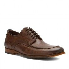 Men's Dark Brown Leather Parker Hill Moc Shoes