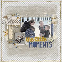 The Little Moments - digital scrapbook layout crated using supplies from Designer Digitals