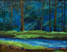 #664 The Woodsy Blues  by Deebs Fiber Arts. I have one of her scenery pictures. It is just stunning.