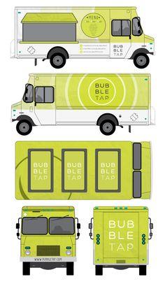 Bubble Tap Food Truck Branding by Diana Thai, via Behance