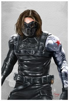 winter soldier marvel civil war fan art by artist tony santiago