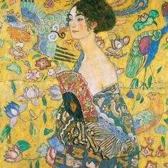 Gustav Klimt lady with fan painting is shipped worldwide,including stretched canvas and framed art.This Gustav Klimt lady with fan painting is available at custom size. Gustav Klimt, Art Klimt, Painting Frames, Painting Prints, Art Prints, Painting Canvas, Canvas Art, World Famous Paintings, Famous Art