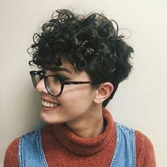 27 Easy Tips For Short Curly Pixie Ideas & Designs, short curly pixie haircut natural, short curly pixie videos, short curly pixie cut, short curly. Curly Hair Styles, Curly Hair Cuts, Short Hair Cuts, Pixie For Curly Hair, Wavy Pixie, Wavy Hair, Short Curls, Short Hair With Bangs, Curly Short