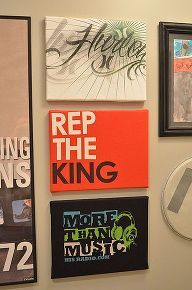 how to make custom wall art that s easy and cheap, crafts. I'm going to use school tshirts.