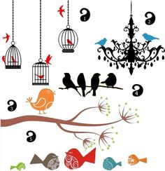 Room Seven Bird Branches Dekbedovertrek