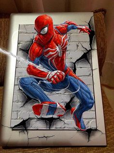 Superhero Spiderman, Batman Art, Amazing Spiderman, Classic Cartoon Characters, Marvel Characters, Marvel Drawings, Disney Drawings, Marvel Paintings, Captain America Wallpaper