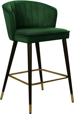 Meridian Furniture Cassie Velvet Counter Stool, Set of 2 Metal Chairs, Bar Chairs, Dining Chairs, Room Chairs, Lounge Chairs, Green Bar Stools, Modern Bar Stools, Cool Bar Stools, Bar Furniture