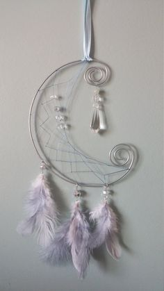 Capteurs de rêves / Dreamcatchers «Moonshaping» Facebook: https://www.facebook.com/tisseusereves/ Plus