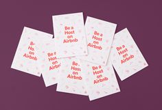 Welcome Packet, Airbnb Host, Booklet Design, Name Cards, Deck Of Cards, Language, Education, Visual Identity, Decks