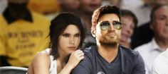 So Nathan Drake and Lara Croft goes to a basketball game...