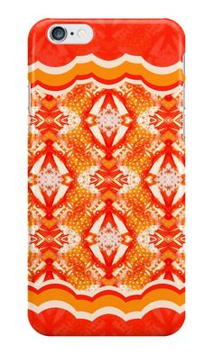 """""""Drawing - a pattern """"An orange mix"""""""" iPhone Cases & Skins by floraaplus 