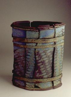 Ceramics by Jim Robison - Sculpture created in Hand Built Pottery, Slab Pottery, Pottery Bowls, Ceramic Pottery, Slab Ceramics, Pottery Handbuilding, Sculptures Céramiques, Pottery Designs, Pottery Ideas