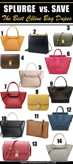 c88ce2d0a4 Looking for the best Celine bag dupes? Read THIS post! This is your ultimate