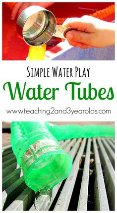 Teaching 2 and 3 Year Olds: Kids Water Fun with Tubes