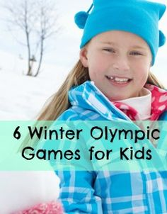 6 Kid Friendly Winter Olympic Games!  Bobsled, Ice skating, Biathlon and more! #winterolympics #gamesforkids