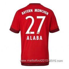 1ème maillot de foot Bayern Munich ALABA 2015-2016