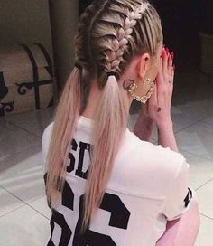 Sporty Hairstyles for Girls # for Hair Styles Little Girl Hairstyles Girls hair hairstyles sporty STYLES Quick Braided Hairstyles, French Braid Hairstyles, Girl Hairstyles, Trendy Hairstyles, Long Haircuts, Hairstyle Braid, Night Hairstyles, Romantic Hairstyles, Hair Updo
