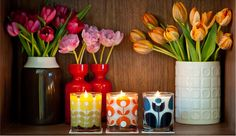 Orla Kiely home fragrance, Photography: Simon J Evans Styling: Natalie Abram Orla Kiely Bedroom, Scented Candles, Pillar Candles, Orla Keily, Evans, Home Fragrances, Wedding Humor, Pretty Flowers, Home Accessories