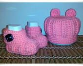 Hat and booties for newborns Ajanya hat and booties Gift for the newborn