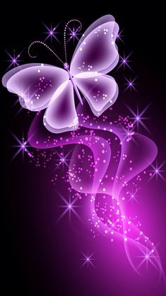 PINK BUTTERFLY IPHONE WALLPAPER BACKGROUND