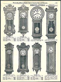 Antique Wall Clocks, Old Clocks, Hanging Clock, Victorian Furniture, Art N Craft, Small Art, Classic Furniture, Vintage Antiques, Art Deco