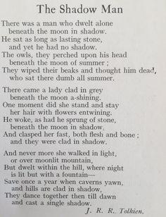 """""""The Shadow Man"""" Encuentran dos poemas desconocidos de Tolkien"""