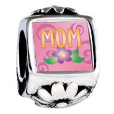Mom And Flower Photo Flower Charms  Soufeel jewelry -To Fit PANDORA/TROLLBEADS/CHAMILIA and Any other customized bracelets/necklaces. #Jewelry #Fashion #Silver #handcraft #DIY  #Accessory #customjewelry
