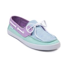 Shop for Womens Vans Chauffette Skate Shoe, Mint Lavender Blue, at Journeys Shoes. Whether your perusing the town by day or walking on the shore by nightfall, the Vans Chauffette has you covered. Boat shoe styling with a striped canvas upper, removablewashable footbed, and lightweight vulcanized outsole. A perfect ode to Spring or Summer!