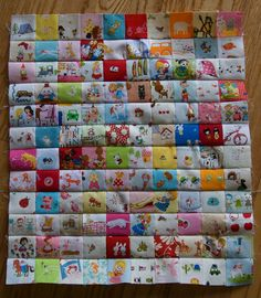 Mini I Spy Quilt. So many teeny squares, so cute! #japanese fabrics used