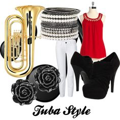 """""""Tuba Style"""" by wolfe30 on Polyvore                 THAT'S ME! LITERALLY! I PLAY THE TUBA!"""