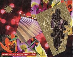 """""""make sure you get everything"""" paper collage art for framing or notecard by MaterialWhirlCollage, $4.99"""