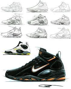 sketch, drawing, shoes, concept, design