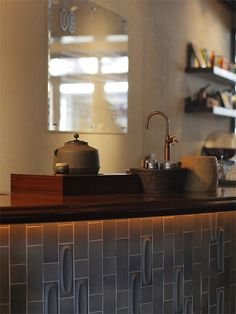 """IYEMON SALON KYOTO""@京都・烏丸三条 Japanese Coffee Shop, Japanese Shop, Sushi Bistro, Cafe Interior, Interior Design, Coffee Lab, Tea Cafe, Tea Culture, Japanese Tea Ceremony"
