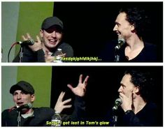 Tom Hiddleston ~ Chris Evans ~ Tom's glow