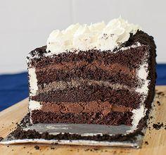 oreo layered mousse cake