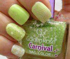 Nail Art, Nail Design, Golden Rose, Nail polish