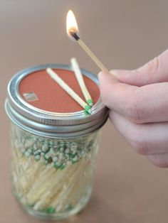 Throw your standard matchbox in the recycling bin, and opt for this adorable option instead. If you're feeling especially crafty, create a small hole in the striking lid for easier access to your matches.