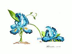 February Birthday Flower Shoe - Iris or Violet