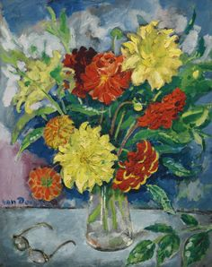 Kees van Dongen (1877-1968) —  Bouquet of Dahlias,  1908  (1264×1600)