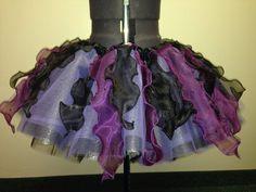 Adult/teen/child Ursula inspired tutu with genuine Swarovski crystals/purple and black/disney run/marathon tutu on Etsy, $100.00