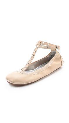 Yosi Samra Studded T-Strap Ballet Flat  want this shoe!
