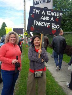 Coquitlam Teachers' Rally