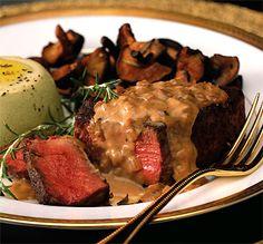 Beef Tenderloin Steaks with Mustard Cognac Sauce