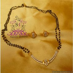 Real Look American Diamond Mangalsutra
